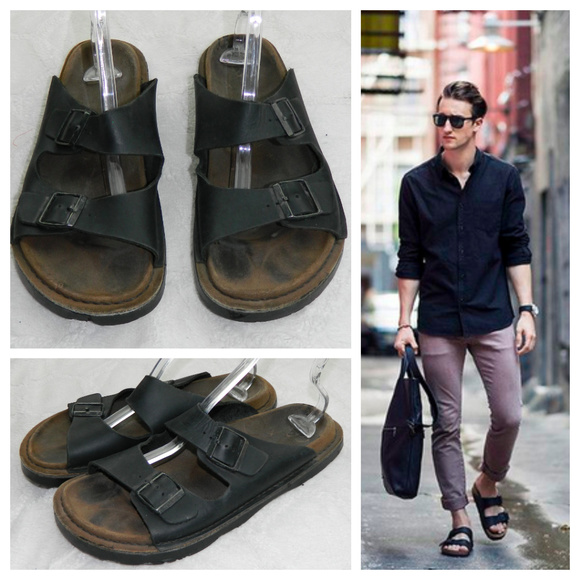 BIRKENSTOCK ARIZONA Slides SANDALS Mens 13 BLACK